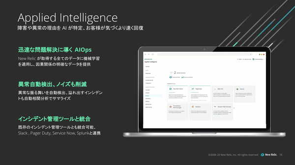 図4:「Applied Intelligence」の概要(出典:New Relic)
