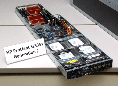写真1 HP ProLiant SL335s Generation 7の外観
