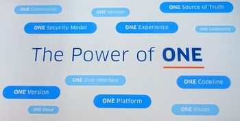 図2:Workdayが強調する「The Power of ONE」